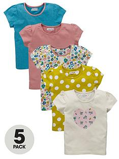 ladybird-toddler-girls-floralheart-print-t-shirts-5-pack