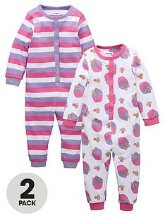 ladybird-toddler-girls-cupcake-sleepsuits-2-pack