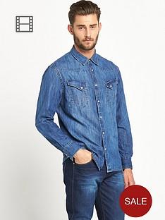 wrangler-mens-long-sleeved-western-denim-shirt