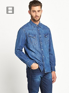 wrangler-mens-long-sleeved-western-denim-shirt