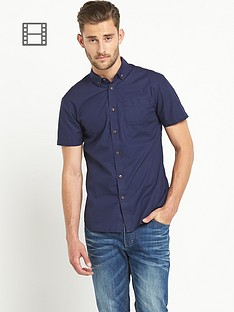 goodsouls-mens-short-sleeve-poplin-shirt-navy