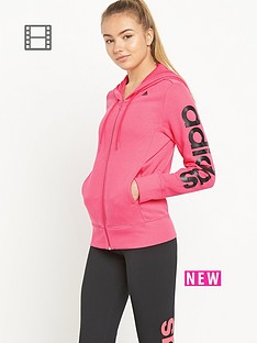 adidas-essentials-linear-hooded-top