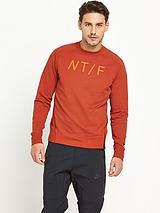 Track and Field Mens Asymmetrical Crew Sweatshirt