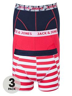 jack-jones-mens-stripeplain-trunks-3-pack