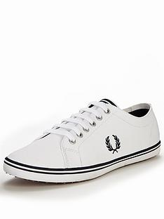 fred-perry-kingston-leather-plimsolls-white