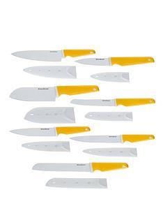 silverstone-ceramic-7-piece-knife-set-yellow