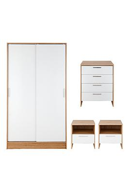 porto-gloss-4-piece-package-2-door-slider-wardrobe-4-drawer-chest-and-2-bedside-cabinets