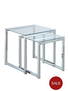monza-glass-and-chrome-nest-of-tables-clear