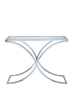 laurence-llewelyn-bowen-mercury-glass-and-chrome-console-table-clear