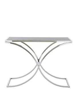 Laurence Llewelyn-Bowen Mercury Glass and Chrome Console Table - Black
