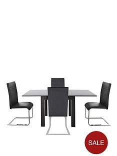 gloss-square-to-rectangle-table-4-jet-chairs-buy-and-save