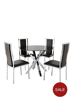 chopstick-glass-and-chrome-dining-table-4-atlantic-chairs-black-buy-and-save