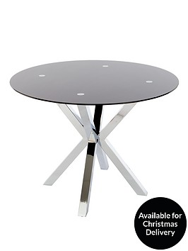 chopstick-glass-and-chrome-round-dining-table-black