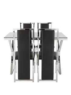 nevada-121-cm-glass-and-chrome-dining-table-4-faux-leather-chairs-black