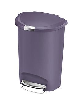 simplehuman-50-litre-semi-round-plastic-bin-violet