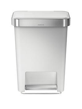 simplehuman-45-litre-rectangular-step-bin-white