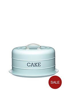 living-nostalgia-vintage-domed-cake-tin-blue