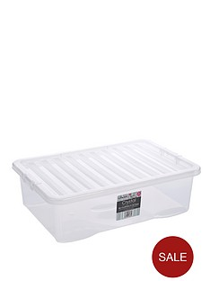 wham-32-litre-clear-plastic-storage-boxes-set-of-2