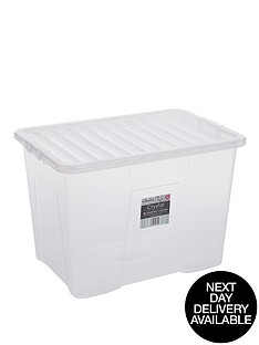 wham-80-litre-clear-plastic-storage-boxes-set-of-2