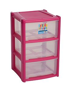wham-3-drawer-tower-storage-unit-pink