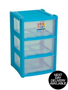 wham-3-drawer-tower-storage-unit-blue