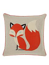 Mr Fox Appliqué Cushion