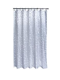 aqualona-metallic-leaf-shower-curtain