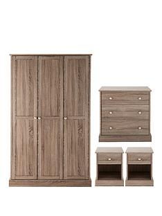 appleby-4-piece-package-3-door-wardrobe-3-drawer-chest-2-bedside-cabinets