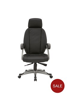 alphason-bentley-leather-facing-office-chair-black
