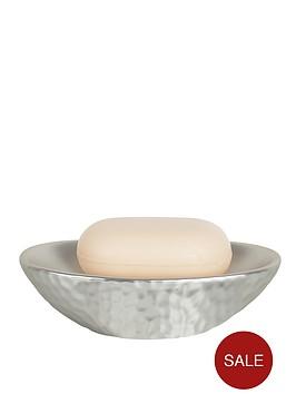 spirella-darwin-hammered-soap-dish-silver