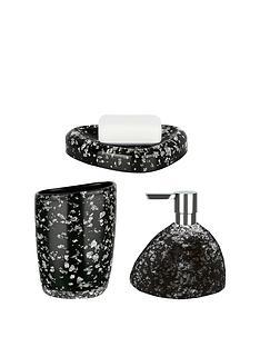 spirella-etna-set-of-3-glitter-black-bathroom-accessories