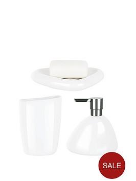 spirella-etna-set-of-3-shiny-white-bathroom-accessories