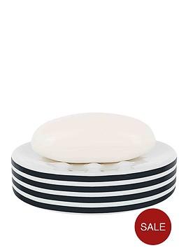 spirella-tubes-stripes-soap-dish-black