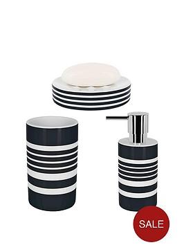 spirella-tubes-stripes-set-of-3-bathroom-accessories-black
