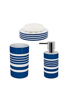 spirella-tubes-stripes-set-of-3-bathroom-accessories-blue