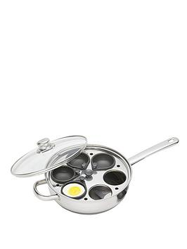 kitchen-craft-28-cm-six-hole-egg-poacher-stainless-steel