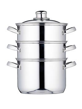 kitchen-craft-3-tier-18-cm-steamer-stainless-steel