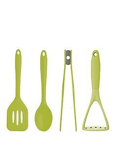 colourworks-4-piece-silicone-utensil-set-green