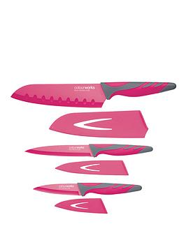 colourworks-3-piece-knife-starter-set-pink