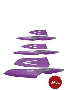 colourworks-3-piece-knife-starter-set-purple