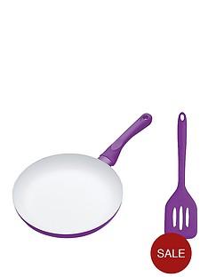 colourworks-24cm-ceramic-non-stick-fry-pan-and-turner-set-purple