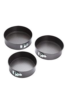 kitchen-craft-3-piece-non-stick-spring-form-cake-tin-set