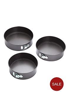 kitchen-craft-3-piece-non-stick-spring-form-cake-tin-set