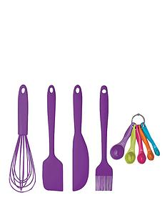 colourworks-5-piece-silicone-baking-and-preparing-set-purple