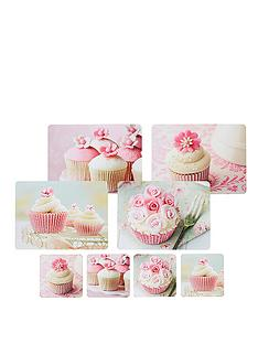 kitchen-craft-8-piece-cork-back-laminated-placemats-and-coaster-set-cupcake
