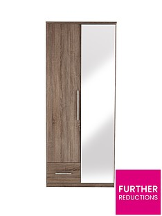 cologne-2-door-1-drawer-mirrored-wardrobe
