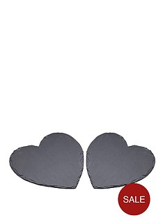 kitchen-craft-artesa-slate-heart-shaped-serving-platter-2-pack