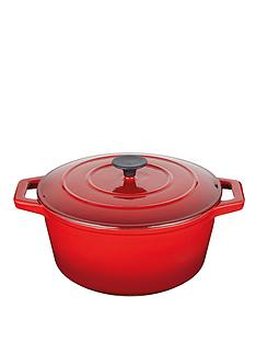 master-class-cast-iron-red-6-litre-round-casserole-dish-with-lid