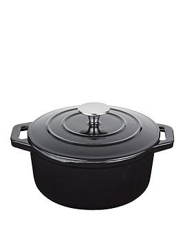 master-class-cast-iron-black-25-litre-round-casserole-dish-with-lid
