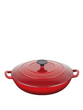 master-class-cast-iron-red-35-litre-braiser-buffet-pan